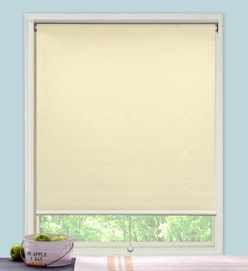 Spring Roller Blind With Aluminium Bar
