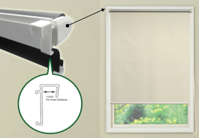 Easy Fix Roller Blind