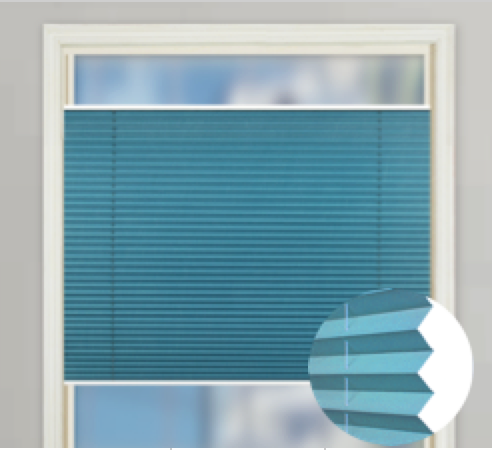 Easy Fix 20mm TDBU Pleated Blind