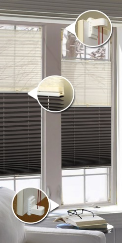 Easy Fix 20mm Duo Pleated Blind